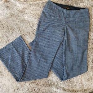 Pinstripe Wide Leg Denim Pants